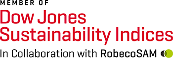 Logotype Member of Dow Jones Sustainability indices