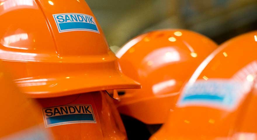 Orange safety helmets.
