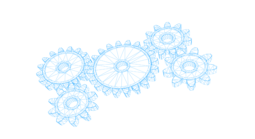 Illustration of gear wheels.