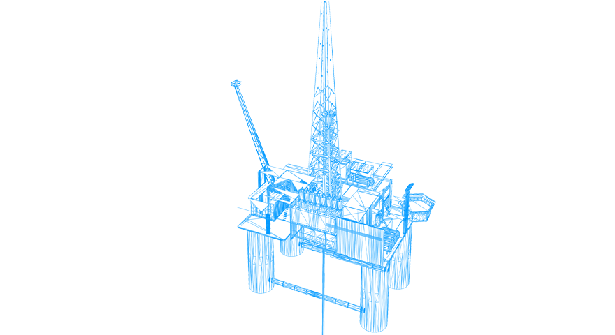 Illustration of an oil rig.