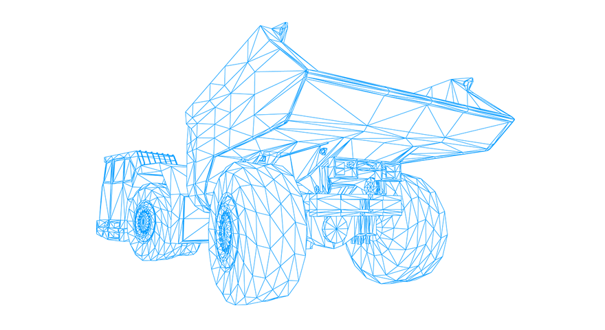 Illustration of mining vehicle.