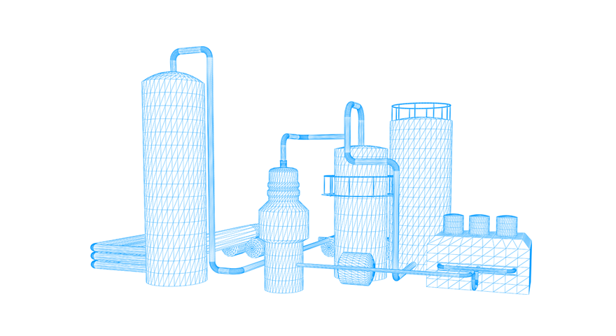 Illustration of an industry plant.
